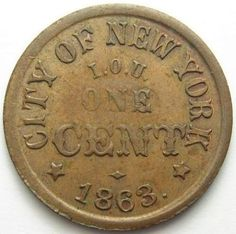Civil War coin. I worked in a coin store growing up.