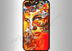 Artistic Shocking orange Portrait iphone 4 iphone by stylesoul, $18.99