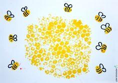 """Непоседы: Рисование """"Мёд и пчёлы"""""""
