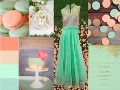 Modern meets whimsy in this lovely mint and gold palette. A perfect look for spring and summer weddings! Anarkali dress from Lux Shoppe. - LuxShoppe.com Inspiration Boards, Style Inspiration, Gold Palette, Asian Bridal, Anarkali Dress, Summer Weddings, Bridal Dresses, Wedding Events, Designer Dresses