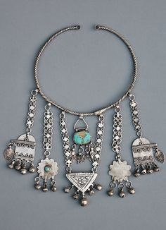 A torque with amuletic pendants. Kurdish, probably from northern Iraq, ca. 1900…