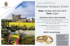 Are you getting married and want to know what is on trend?   Don't miss our Exclusive Wedding Wishlist Event.  Everything you need to know about weddings. Hosted in the amazing setting of Darver Castle.  Learn Wedding Trends & Tips, meet Ireland's best Wedding Professionals, live demos and talks from some of the most sought after wedding experts:  Elody Bride, Shauna Fay Occasion Wear, Heavenly Cakes, A.W. Beckett Car Hire, Jack Murphy Jewellers, Martina Crilly Creative Design.   RSVP to…