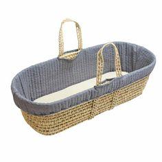 Moses Basket - Grey | #royalbaby #nursery