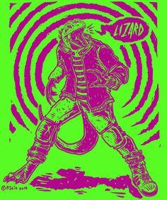 Raskal the illegal alien concept art - for the upcoming cyberpunk short  Ecstasy Boulevard #XTCBLVD #ShortFilm #MoviePoster #Lizardman #Alien #illustration #Cyberpunk #MovieMonsters