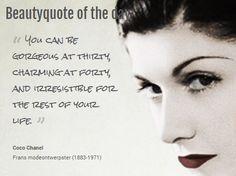 Beautyquote van Coco Chanel op www.makeupmymind.nl