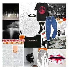 """""""☾ happy halloween!!"""" by thundxrstorms ❤ liked on Polyvore featuring art, MeenaGotTagged, gottatagrandomn3ss and DestinyHasBeenSummoned"""