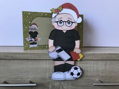 Excited to share this item from my shop: Football referee, christmas card, grettimg cards, christmas on the shelf card and envelope, Football Referee, Envelope, Minnie Mouse, Disney Characters, Fictional Characters, Christmas Cards, Shelf, Etsy Shop, 3d