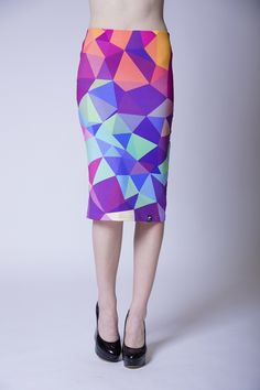 Colorfull skirt - made by Meowhaus Clothing  #skirt #meowhaus #print #hipster
