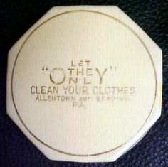 Let OnLY Clean Your Clothes, Allentown Pennsylvania, Vintage powder Compact