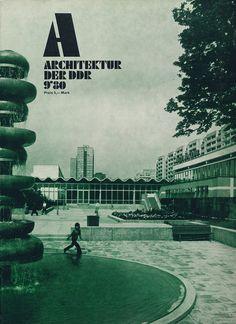 Cover from German Democratic Republic architecture magazine.