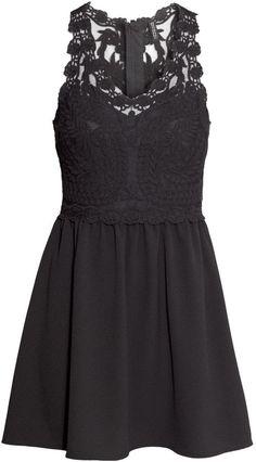 H&M Lace Dress - Black - Ladies on shopstyle.com