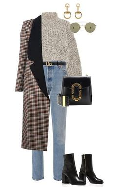 """Untitled #4425"" by lily-tubman ❤ liked on Polyvore featuring Isabel Marant, RE/DONE, Gucci, Lanvin, Marc Jacobs and Ahlem"