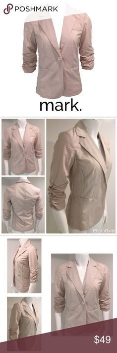 "Avon mark. Small Fitted Tan Khaki Jacket Blazer Avon mark. Small Unlined 3/4 Sleeve Thin Fitted Tan Beige Khaki Jacket Blazer  ▫️No retail tag ▫️Buttons in bag attached still  ▫️No stains ▫️No holes ▫️Bust 17"" (armpit to armpit) ▫️Shoulders 15"" (shoulder seam to shoulder seam) ▫️Length 25.5"" (middle top back collar to bottom middle back)  🛍For the best deal, I offer a bundle discount! Please check out my closet for other fabulous items!🛍 Avon Jackets & Coats Blazers"
