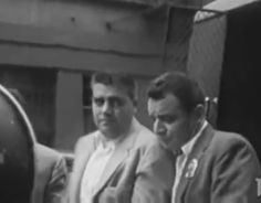Vincent Gigante after surrendering to the police. This was after the Costello shooting and he had been on the lam, losing weight.