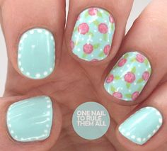 Dotty vintage roses from One Nail to Rule Them All