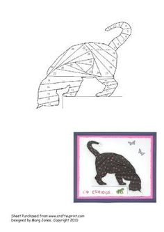 Curious Cat Iris Folding Pattern
