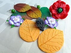 Products, as an example, made with home-made mold. out of polymer clay