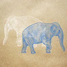 Orie's art【Elephant / ぞう】#elephantillust #design #動物イラスト #ぞうイラスト #elephant #イラスト #デザイン #イラスト #細密画 #絵 #おしゃれイラスト Printmaking, Moose Art, Illustration, Animals, Animales, Animaux, Printing, Animal, Illustrations