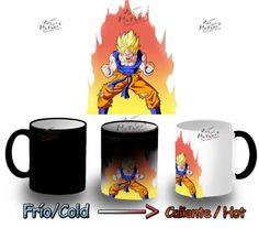 Taza Magica Dragon Ball Goku Super Saiyan Mug Heat Reactive Tazza Tasse Magic - Bekiro