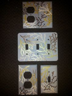 Toggle Switch Cover >> Painted outlet covers on Pinterest | Outlet Covers, Light Switches and Light Switch Plates