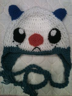 Crochet Kids Hat Pokemon Oshawott