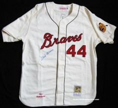 7019587e98f Hank Aaron Autographed Braves Jersey .  829.00. Mitchell  amp  Ness