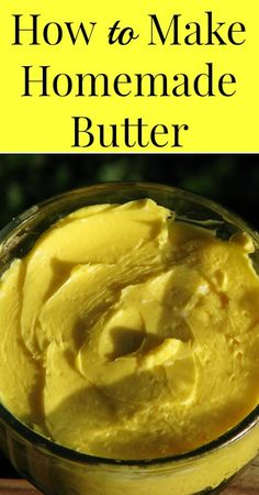 How to Make Homemade Butter {Traditional Foods, Real Food, Primal, Healthy Recipes, Frugal Living, Real Food on a Budget}