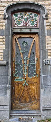 Art Nouveau Entrance, Blvd Genéral Jacques 97, Brussels - Belgium