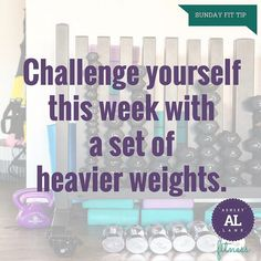 Do you always reach for the same set of weights? Up the resistance and go heavier this week! #fittip