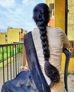 Indian Long Hair Braid, Long Hair Ponytail, Braids For Long Hair, Bun Hair, Long Silky Hair, Long Dark Hair, Super Long Hair, Thick Hair, Beautiful Braids