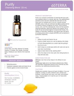 doterra tea tree uses | doTERRA Purify Cleansing Essential Oil Blend 15 ml - My Natural Family