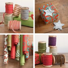 It was such a nice surprise to discover a wonderful selection of gift wrapping supplies available through Sundance Catalog this year (and off topic...you just have to check out the gorgeous boots they carry too). We are loving the vintage feel of their offerings...how great are the wooden spools of assorted ribbons?! See the whole collection of holiday packaging goodness right here.