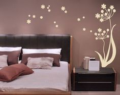 This flower in the wind is very decorative wall decal. You can find more unique and amazing Wall Decals here Wall Decals at www.sjwalldecals.com
