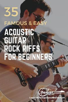 Looking for some easy rock riffs to play on your acoustic guitar? Look no more! Here are 35 famous rock riffs for beginners. Music Theory Guitar, Guitar Chords And Lyrics, Guitar Chords For Songs, Music Guitar, Playing Guitar, Learning Guitar, Guitar Solo, Dj Music, Guitar Songs For Beginners
