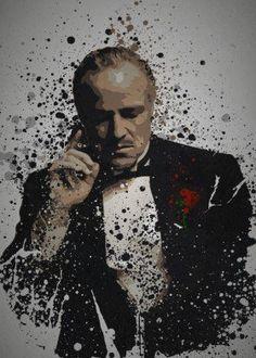 godfather don vito corleone pop culture splatter gangster marlon brando