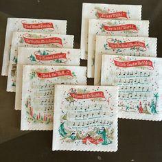 Vintage Christmas Carol Napkins 36 in Original Box NOS by RetroResaleSanDiego on Etsy