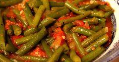 Garden fresh green beans and tomatoes stewed down with sweet Vidalia onion, brown sugar and seasonings.