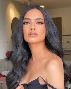 Black Hair Makeup, Nude Makeup, Makeup For Green Eyes, Blue Eye Makeup, Glam Makeup, Beauty Makeup, Hair Beauty, Dark Makeup Looks, Formal Makeup