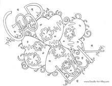 Doodle Art Alley Coloring Page Patricksdayhat