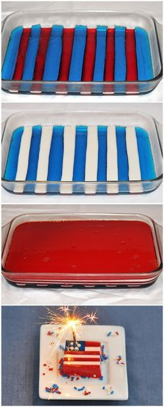 Flag Jello
