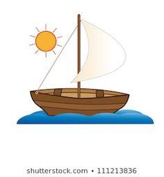 Boat Cartoon, Cartoon Ships, Floral Painted Furniture, Sailboat, Vector Art, Illustration, Ss, Preschool, Cartoons