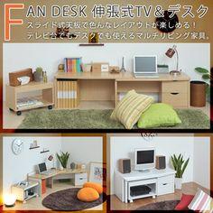 FAN DESK stretch-TV & desk