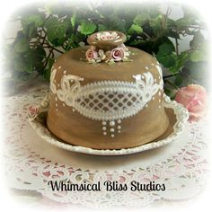 Whimsical Bliss Studios - Rose & Lace Covered Dish