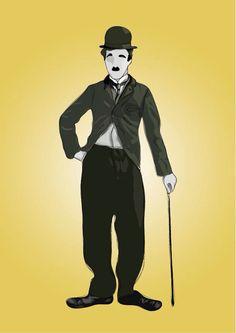 Charles Chaplin digital illustration (Follow me on FB: RM Graphic Design)