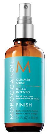 For holiday party hair, Moroccanoil Glimmer Shine is a must!