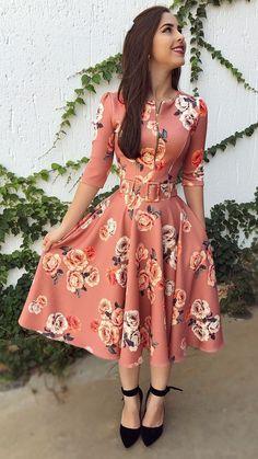 Modest fashion 685250899529463594 - Robe mi-longue Source by autourdelafrance Jw Fashion, Trend Fashion, Cute Fashion, Modest Fashion, Hijab Fashion, Fashion Dresses, Modest Dresses, Modest Outfits, Pretty Dresses
