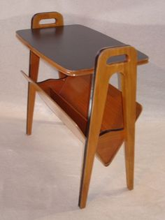 50s 60s Magazine Rack, Side Table, Danish Modern Style, Mid Century Modern,