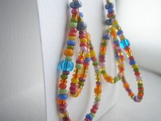 wordless wednesday: what is one hundred? Seed Bead Earrings, Seed Beads, Beaded Necklace, Wearable Art, Wednesday, Fiber, Jewelry Making, Metal, Jewellery Making