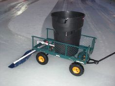 Home made Zamboni for the backyard Outdoor Hockey Rink, Backyard Hockey Rink, Rink Hockey, Backyard Ice Rink, Hockey Room, Skating Rink, Figure Skating, Winter Fun, Winter Sports