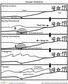 tsunami diagram with labels marathon electric motors wiring 15 best images school projects waves earthquake fifth grade earth space science worksheets how tsunamis are formed